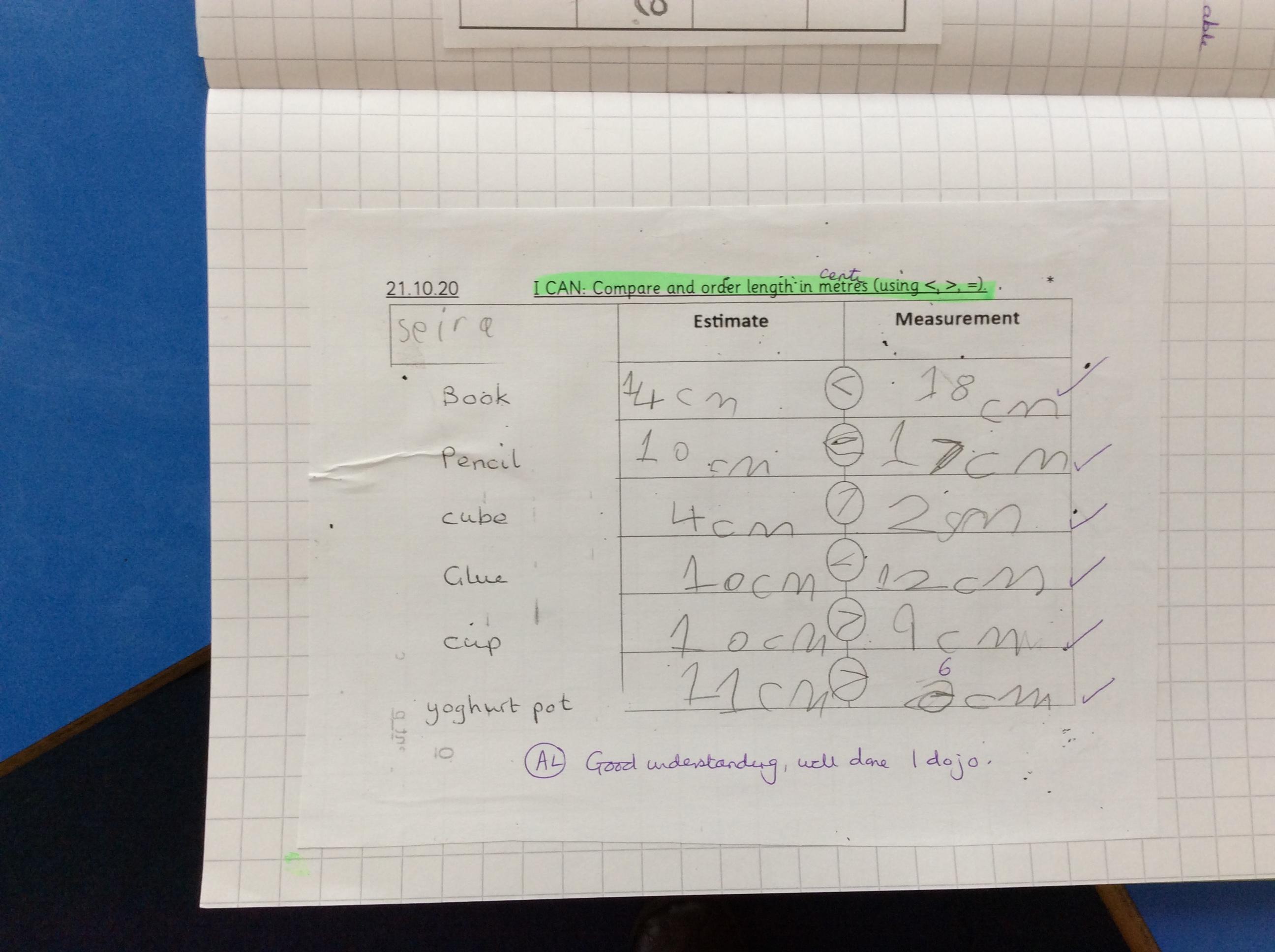 Seira's fabulous maths!