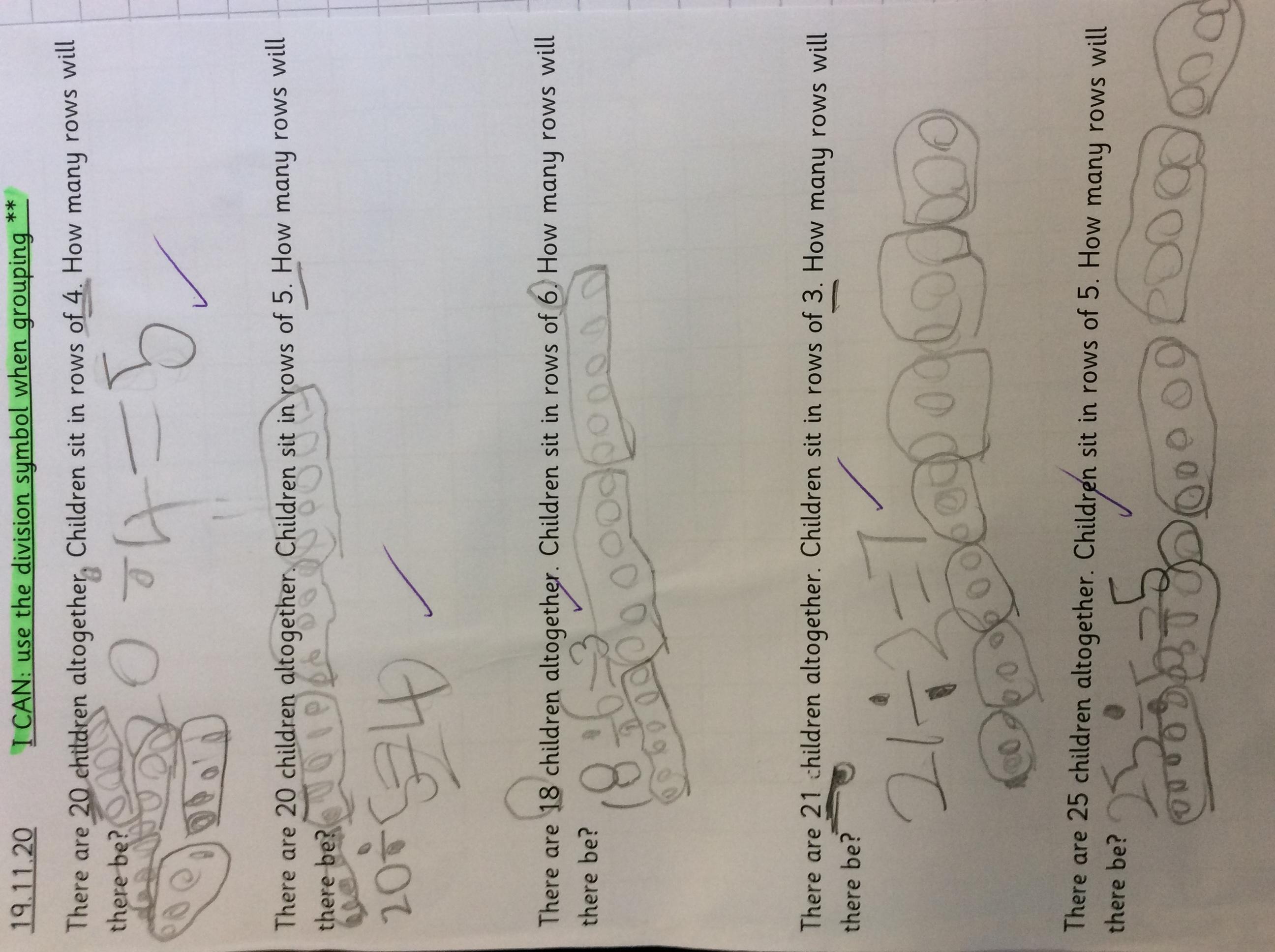 Teddy's brilliant maths!