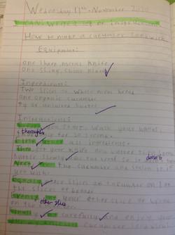 Cameron's brilliant instructions!