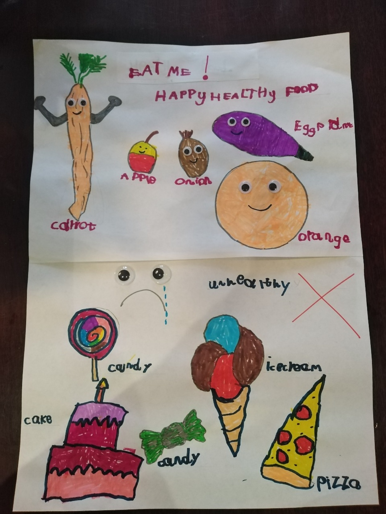 Sophie's healthy food poster!
