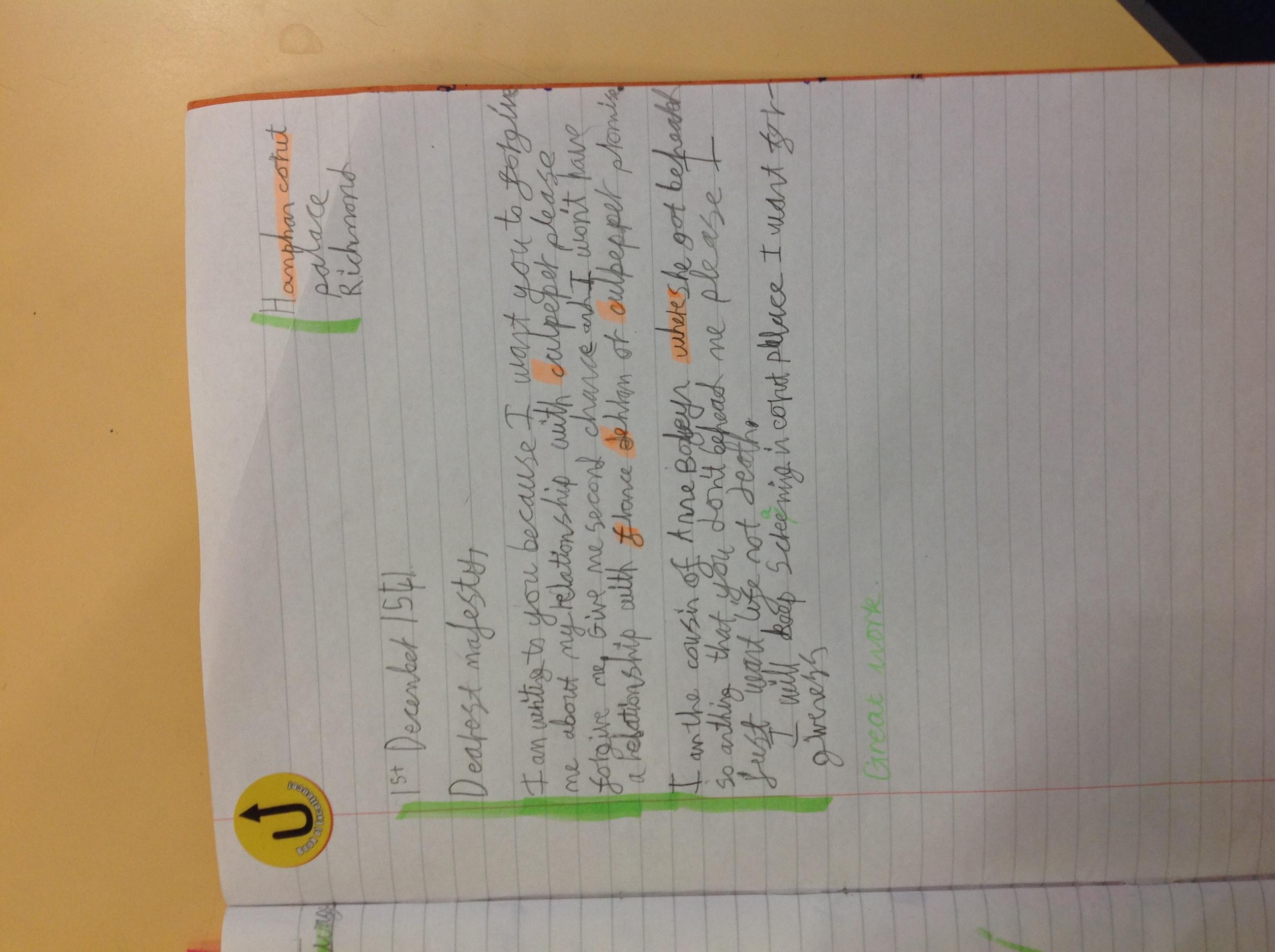 Sani's wonderful writing!