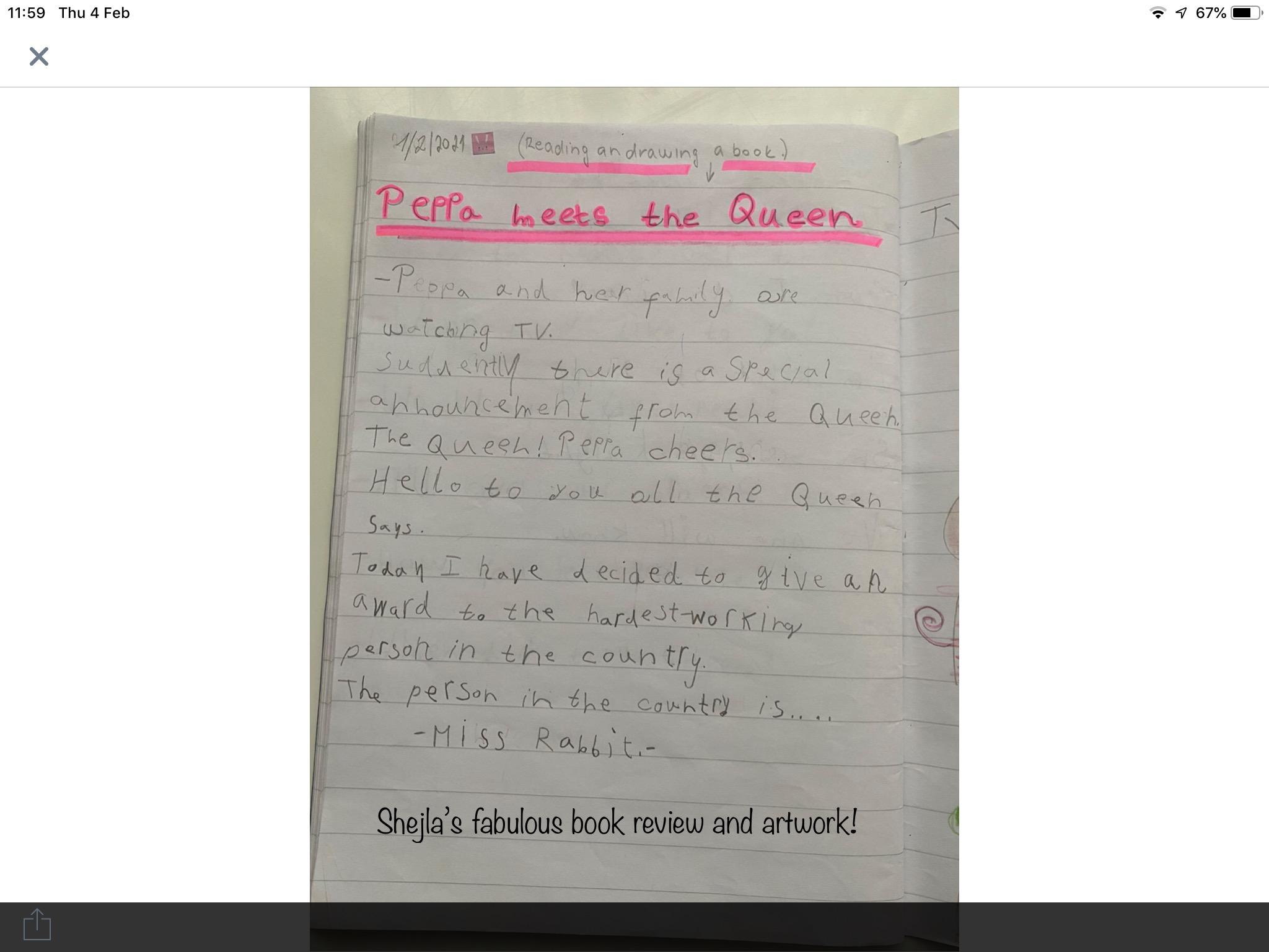 Shejla's incredible writing!