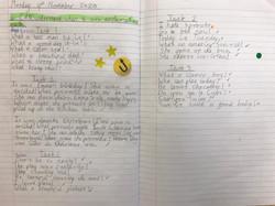 Eleni's excellent grammar and presentati