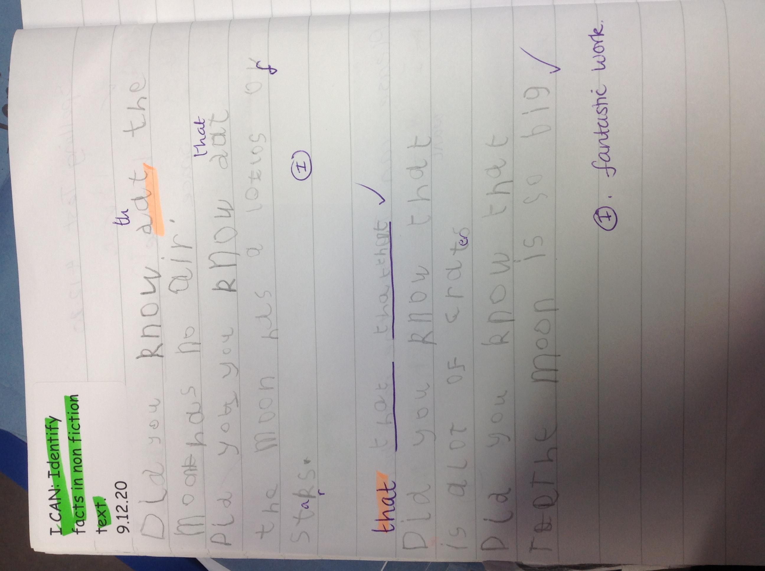 Tyler's amazing writing!
