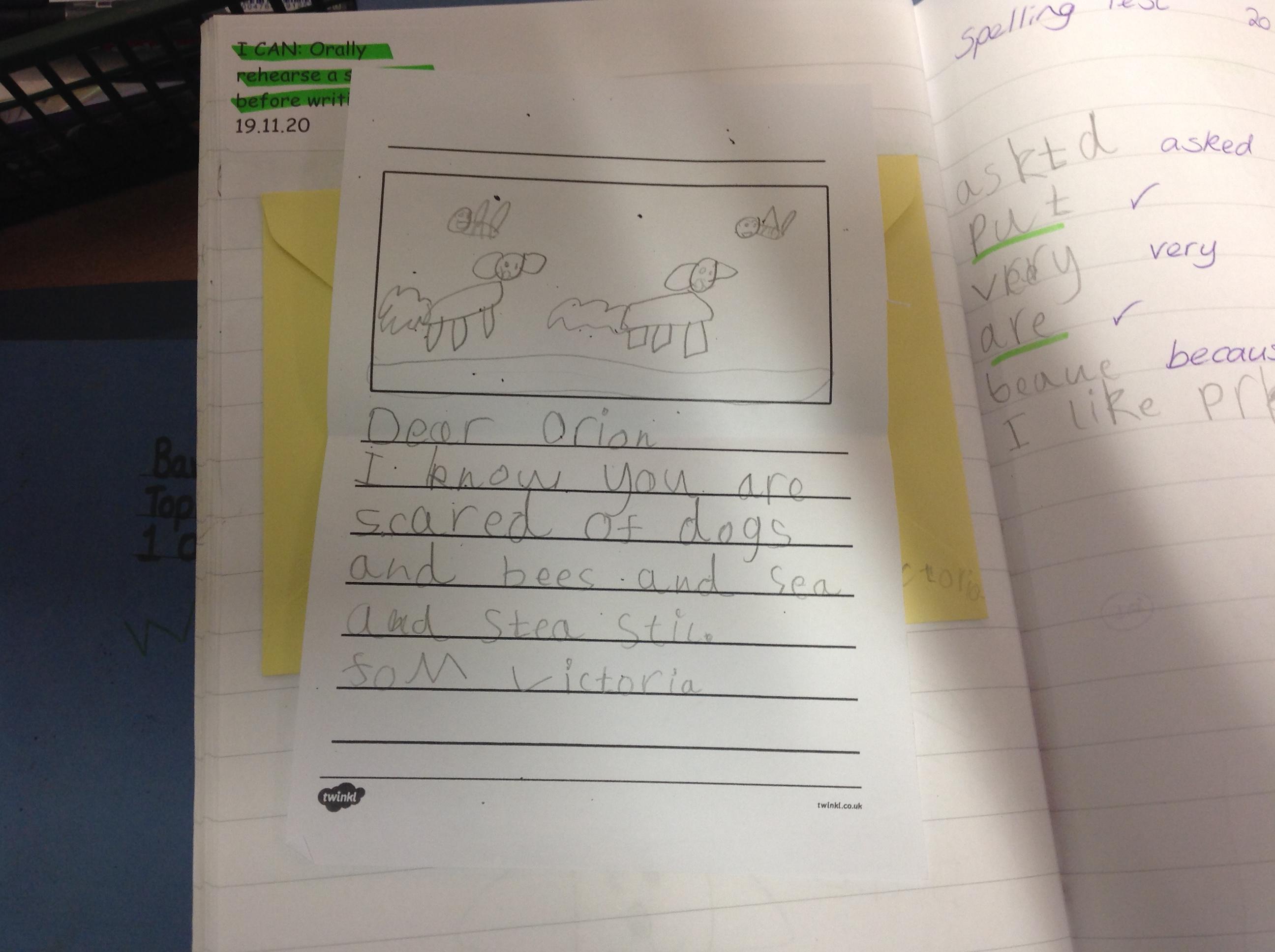Victoria's wonderful writing!
