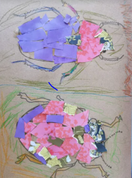 Logan's fantastic insect collages!