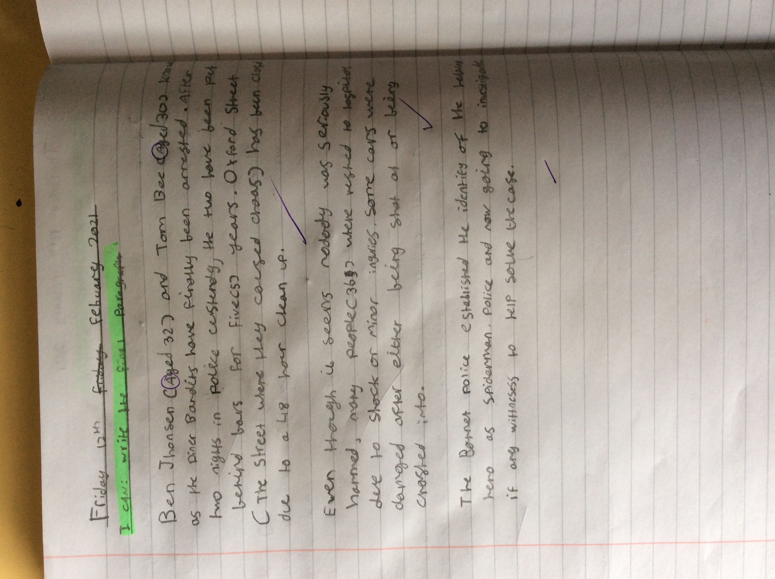 Charlie's fantastic writing!