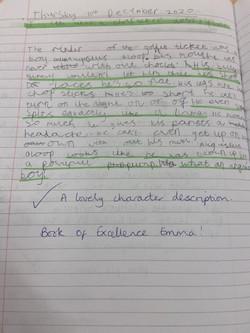 Emma's brilliant writing!