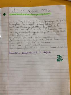 Lottle's lovely handwriting!