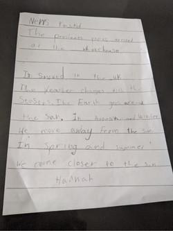Hannah's fantastic writing!
