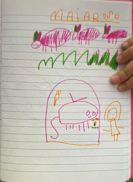 Maia Rose's wonderful story map!
