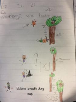 Eloise's fantastic story map!