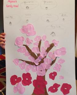 Alyssa's beautiful family tree!