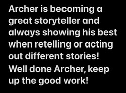 Archer's brilliant story telling!