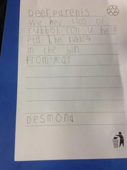 Desmond's wonderful writing!