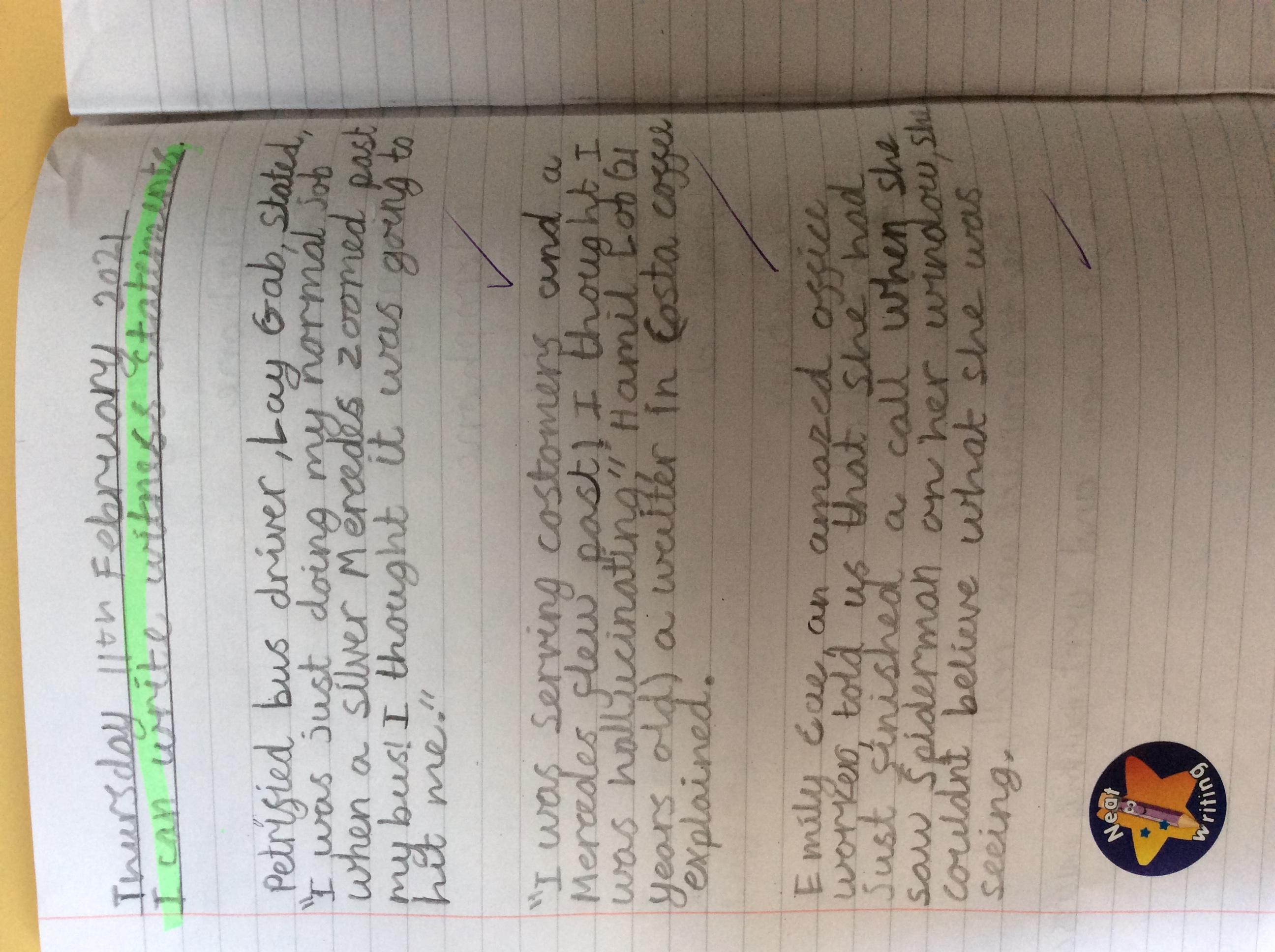 Leo M's wonderful writing!