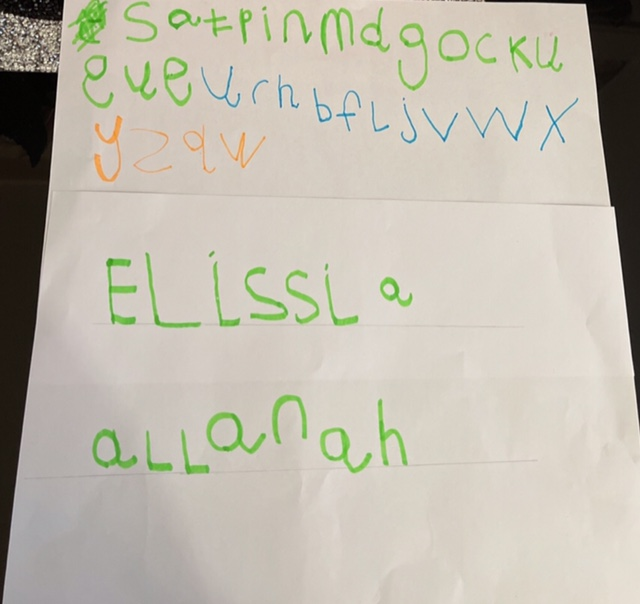 Elissa's fabulous handwriting!