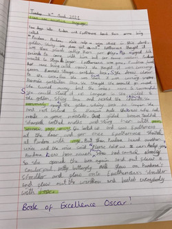 Oscar's amazing writing!