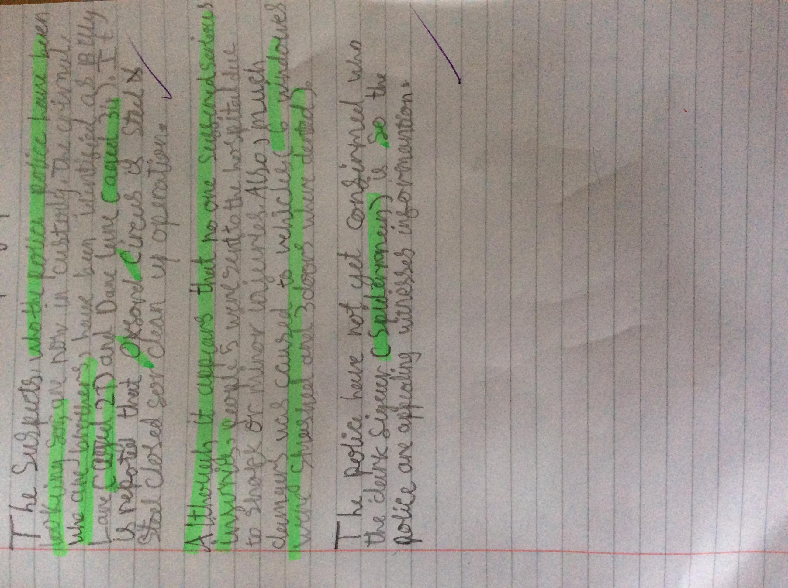 Leo's amazing writing!