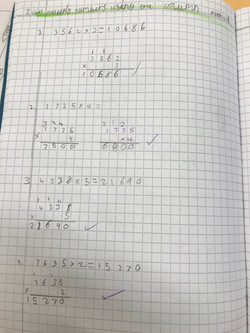 Nathan's fantastic confidence in Maths!.