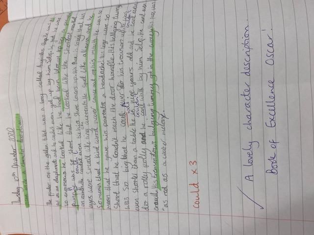 Oscar's wonderful writing!