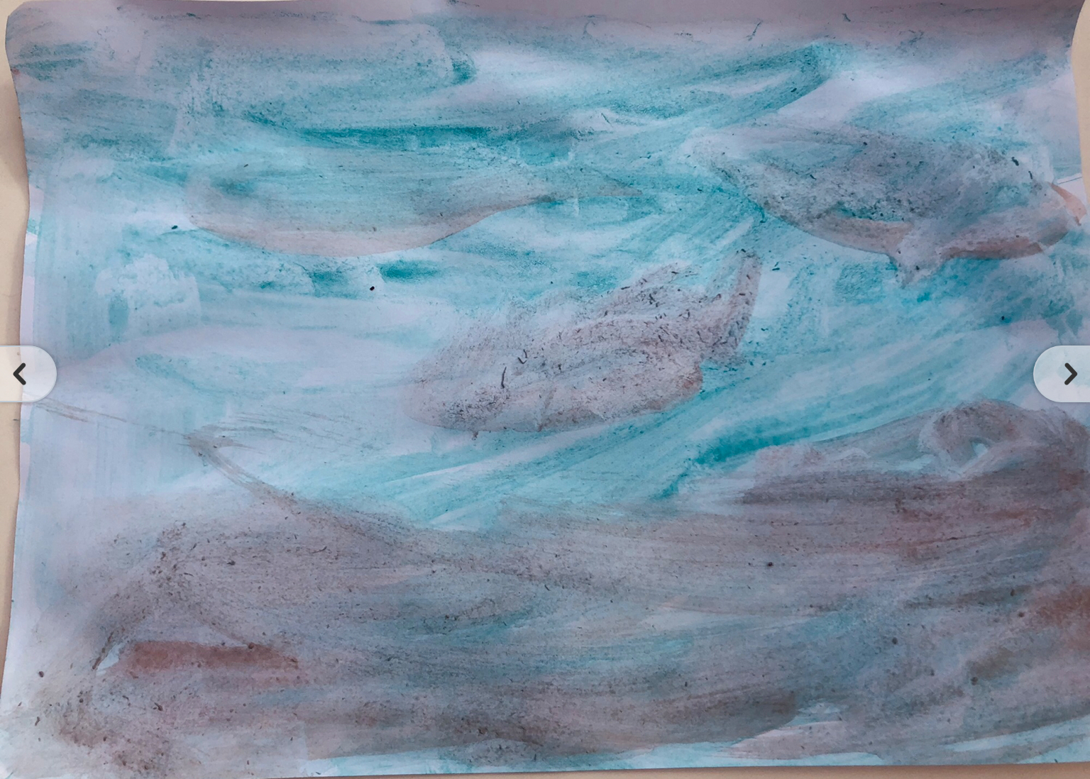 Jude's beautiful abstract Antarctic art!