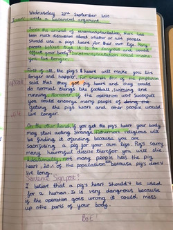 Oliwia's brilliant writing!