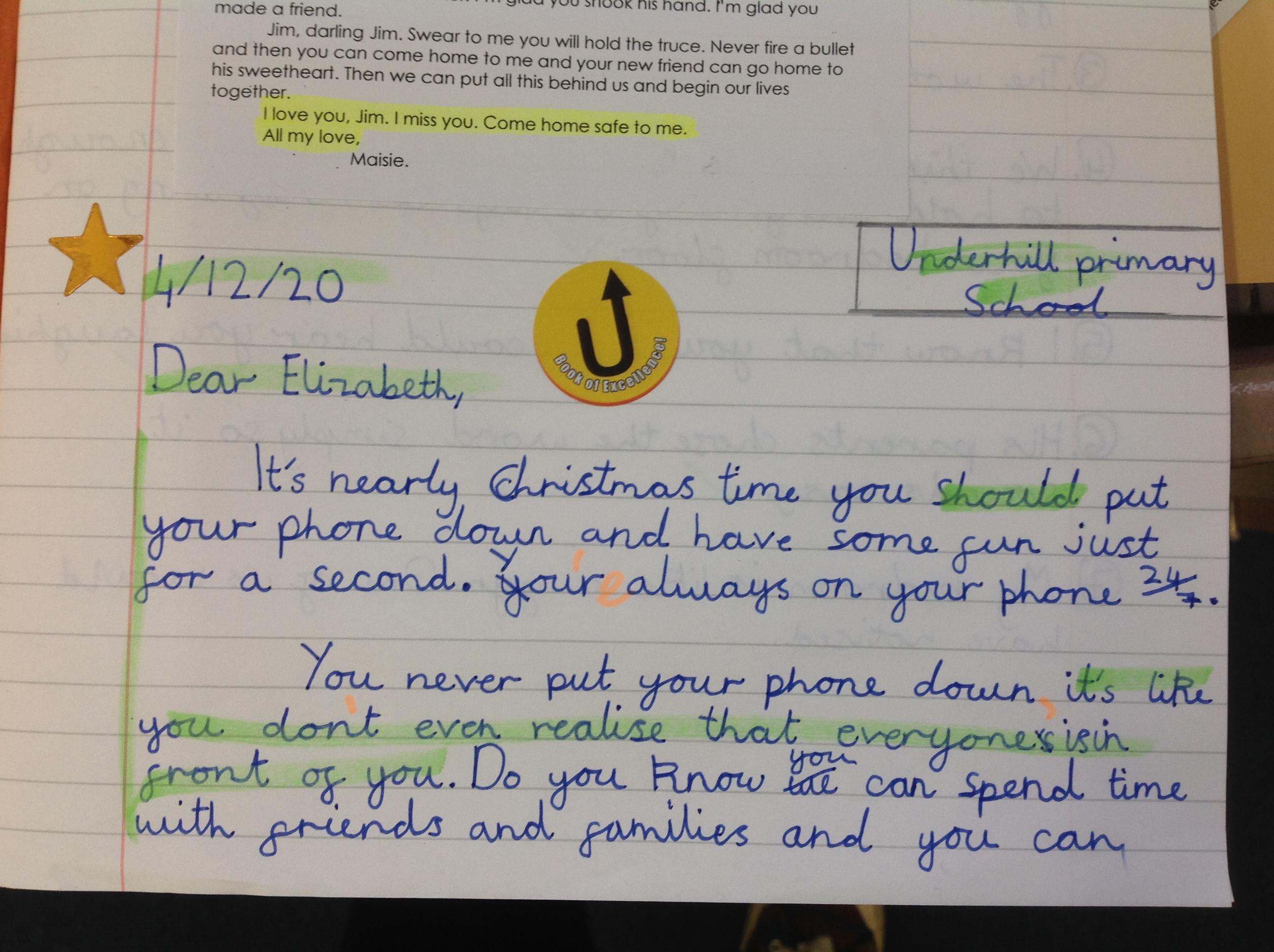 Diana's fantastic writing!