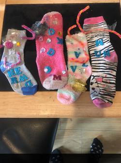 Summer's wonderful sock puppet family!