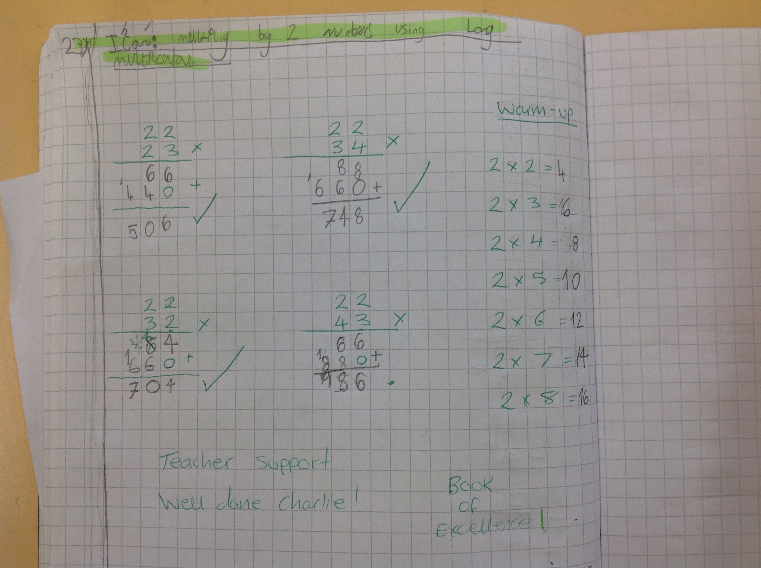 Charlie's fantastic maths!