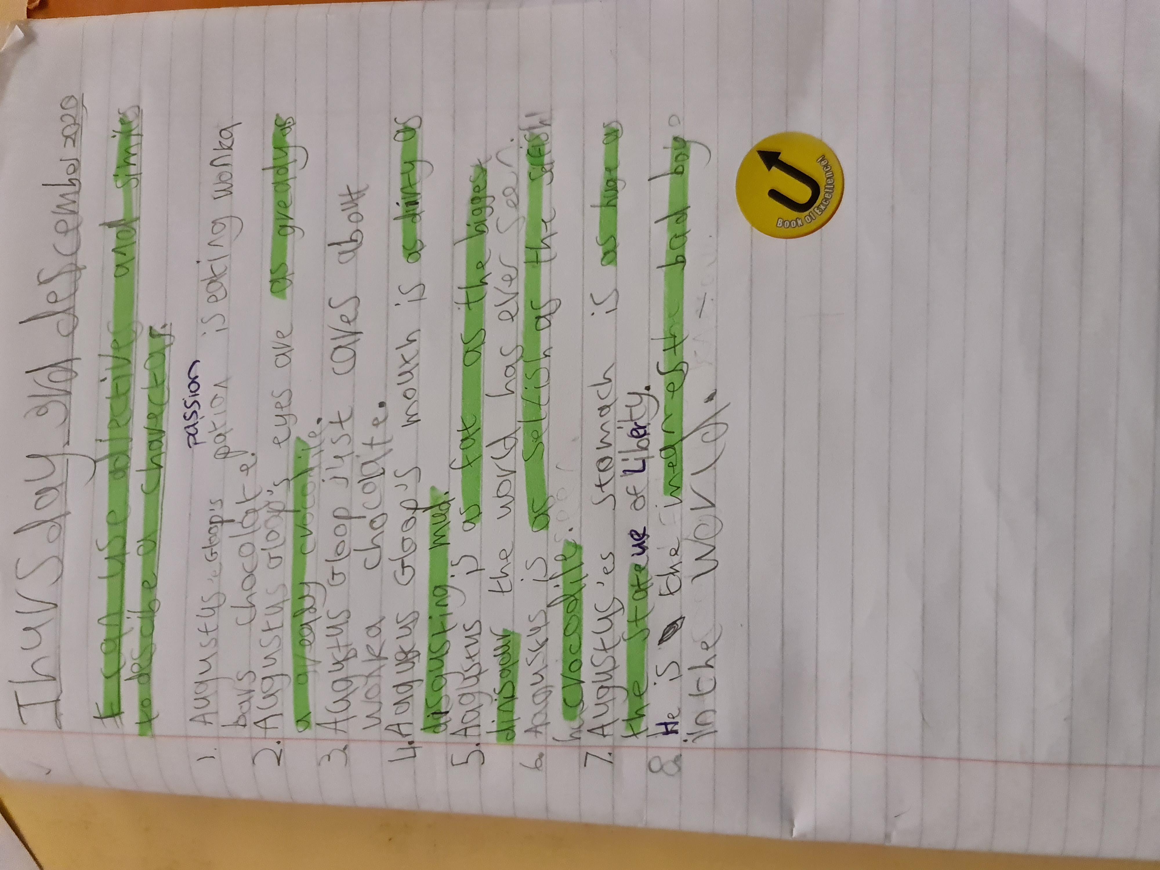 Hayden's excellent writing!