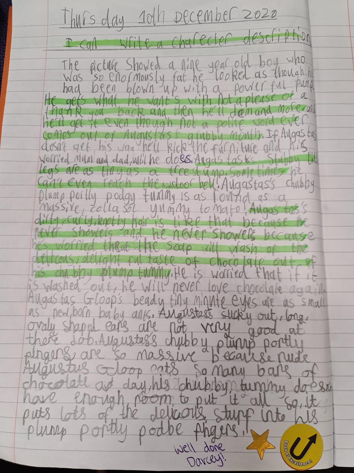 Darcey's wonderful writing!