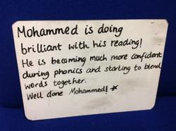 Mohammed's fabulous reading!