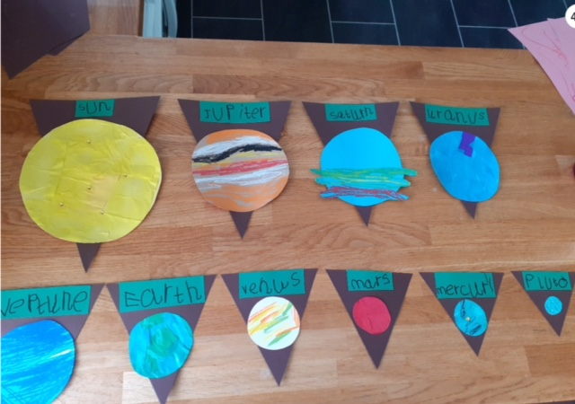 Emily's incredible Solar System bunting!