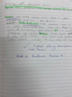 Emma N's fabulous writing!