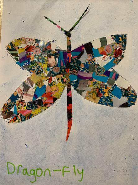 Elias's brilliant dragonfly!