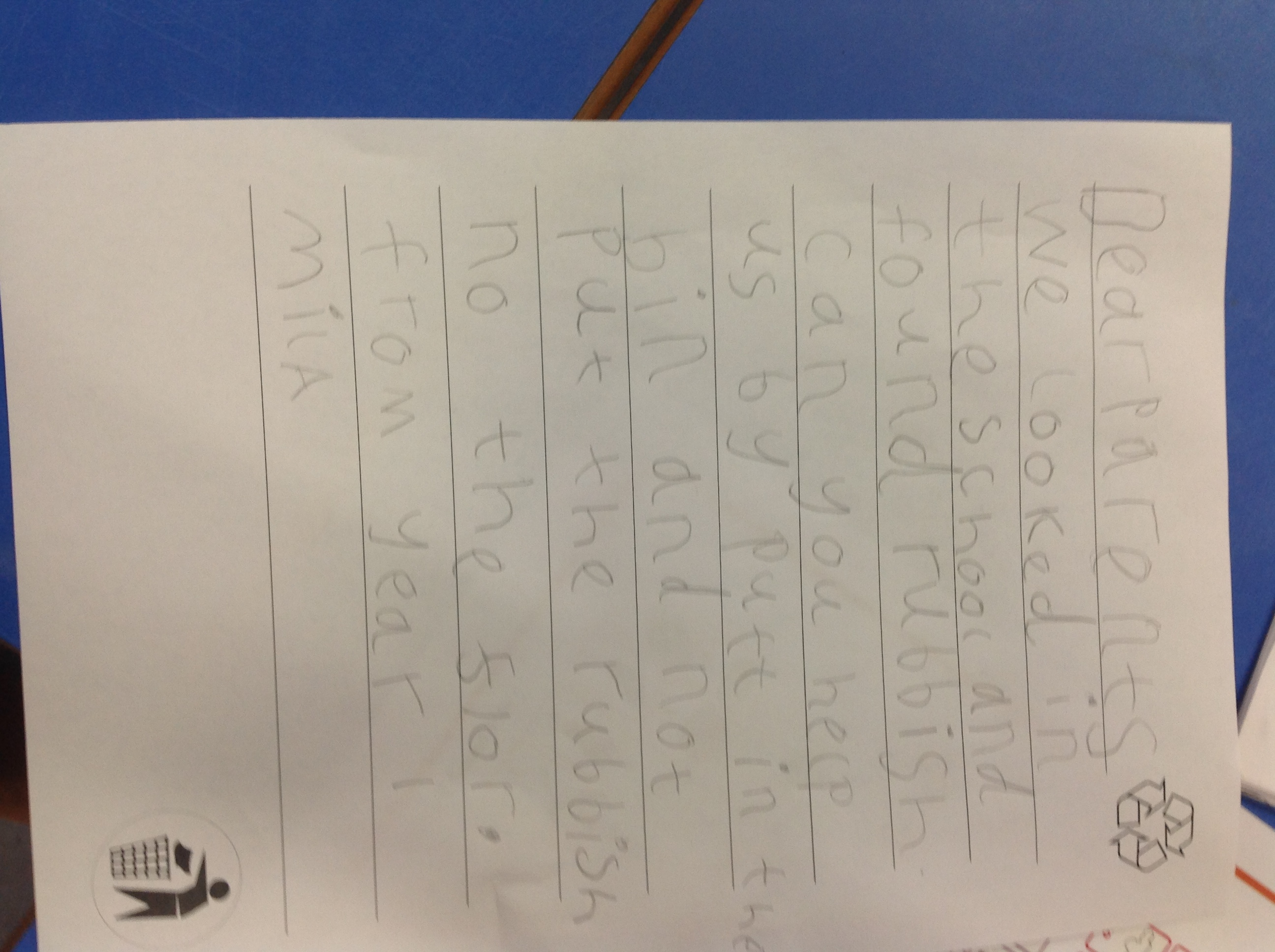 Mila's excellent writing!