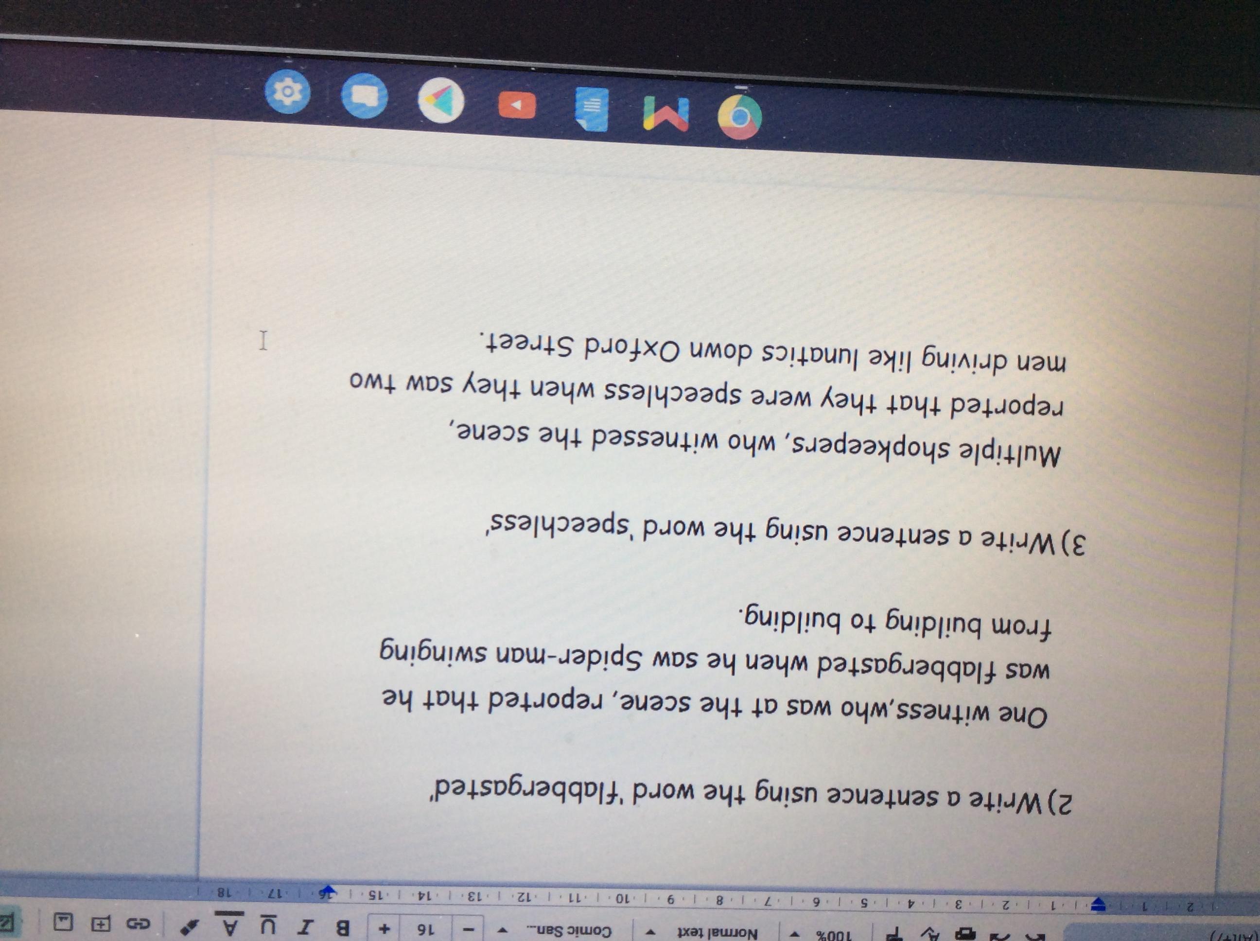 Phoebe's fantastic extended sentences!