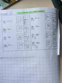 Kayla's fantastic Maths work!