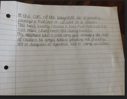 Lewis's brilliant Minotaur description!.