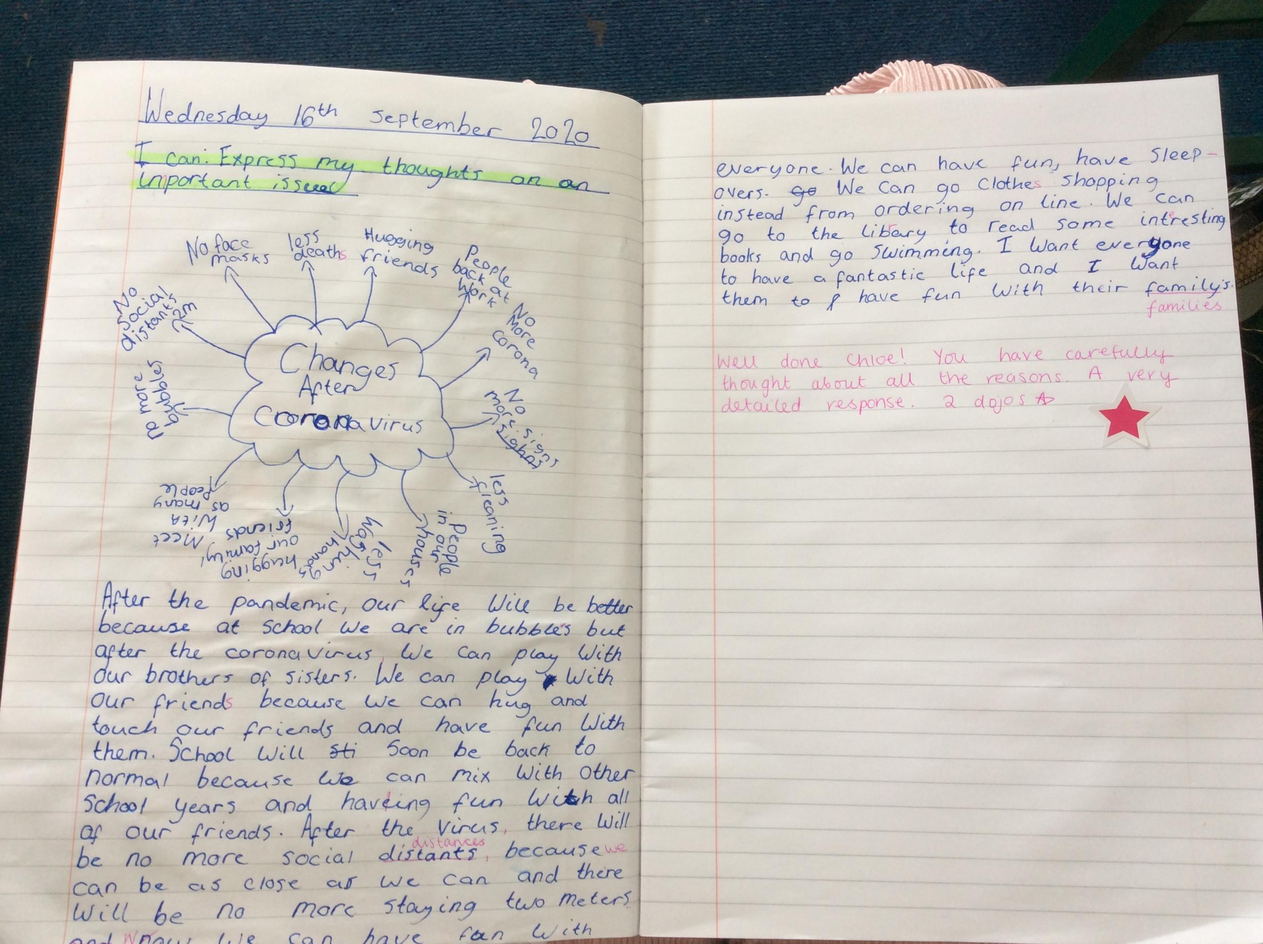 Chloe T - amazing writing!