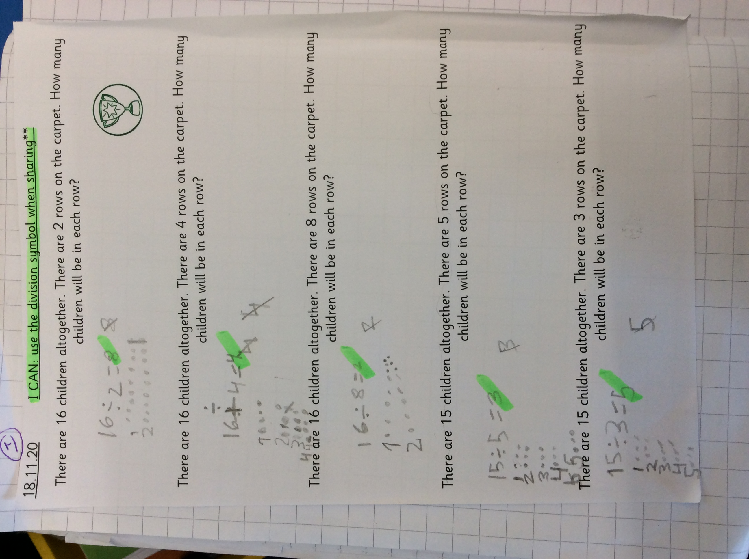 Luqman's excellent maths!