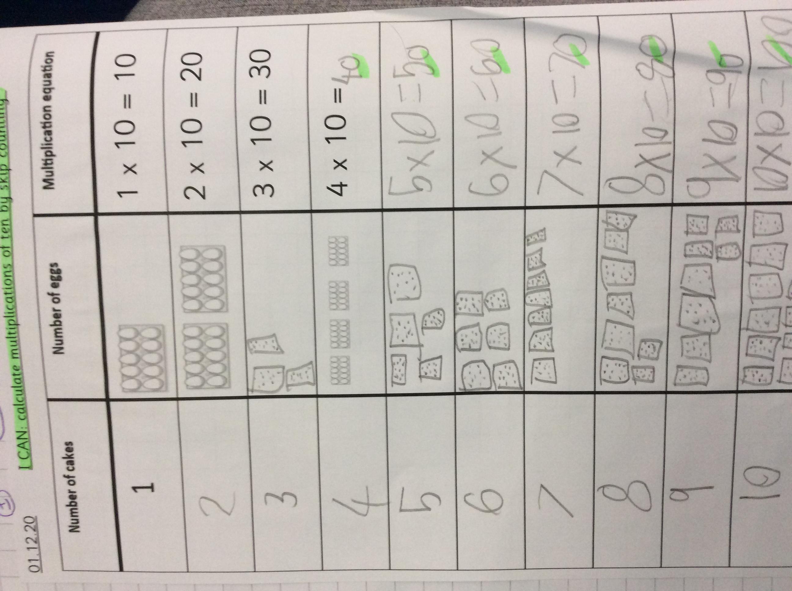 Zosia's fantastic maths!