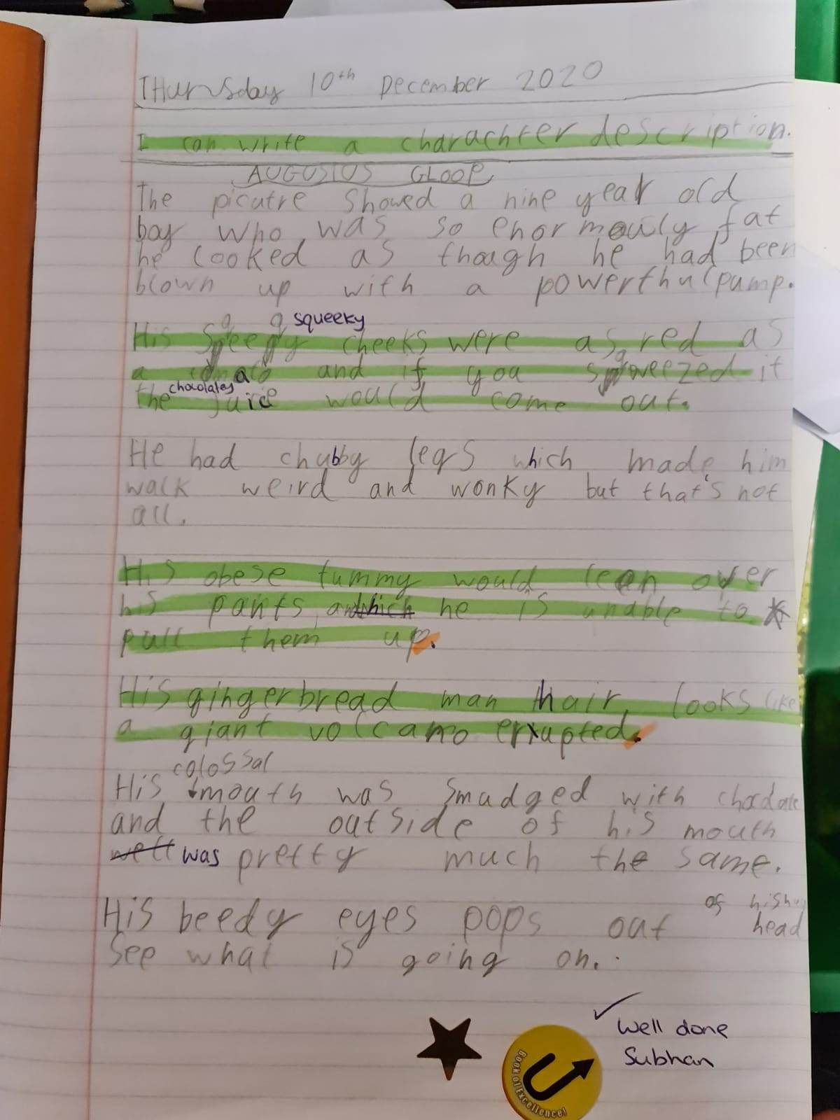 Subhan's excellent writing!