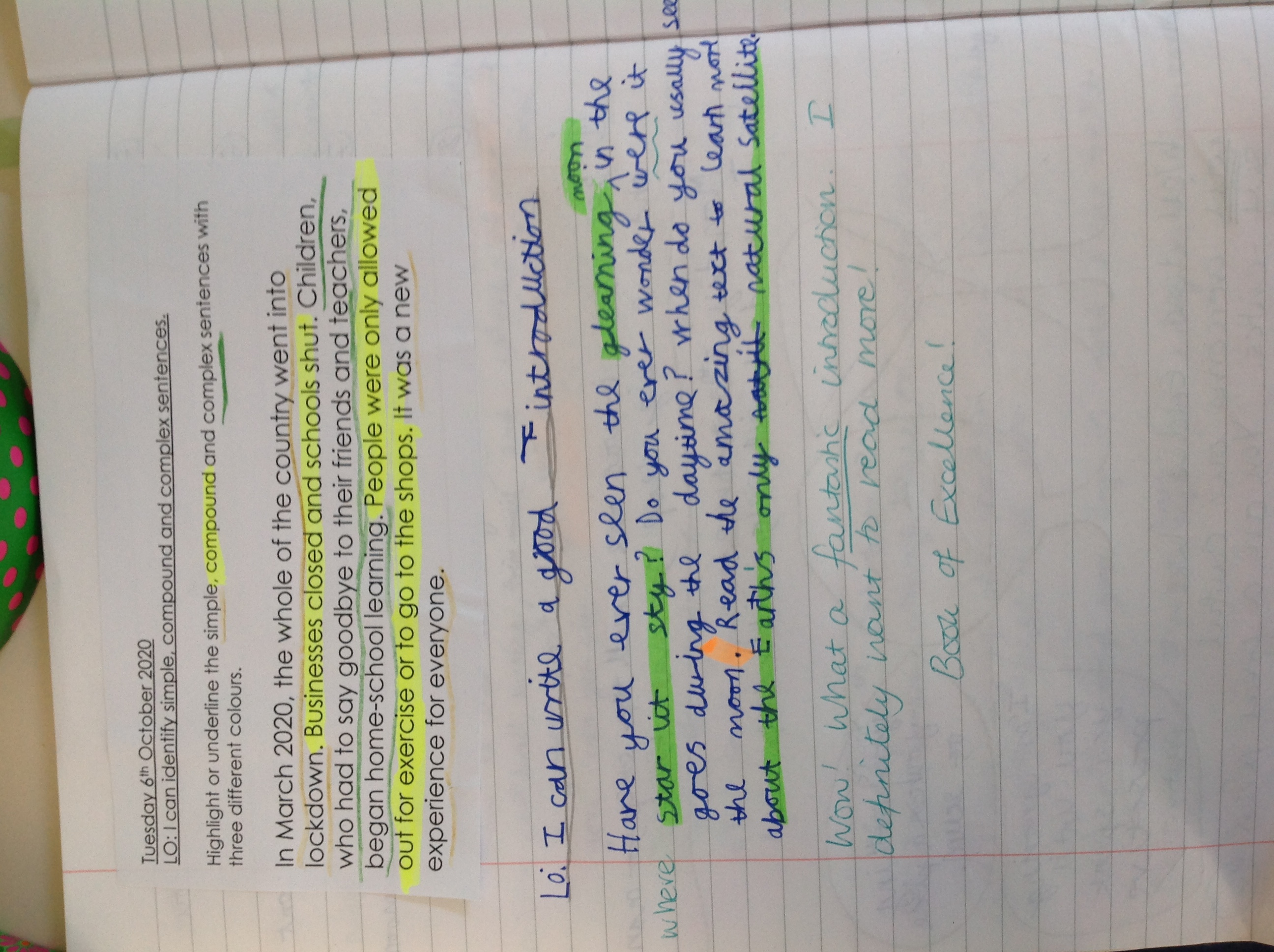 Eddie and Minul's fab paired writing!