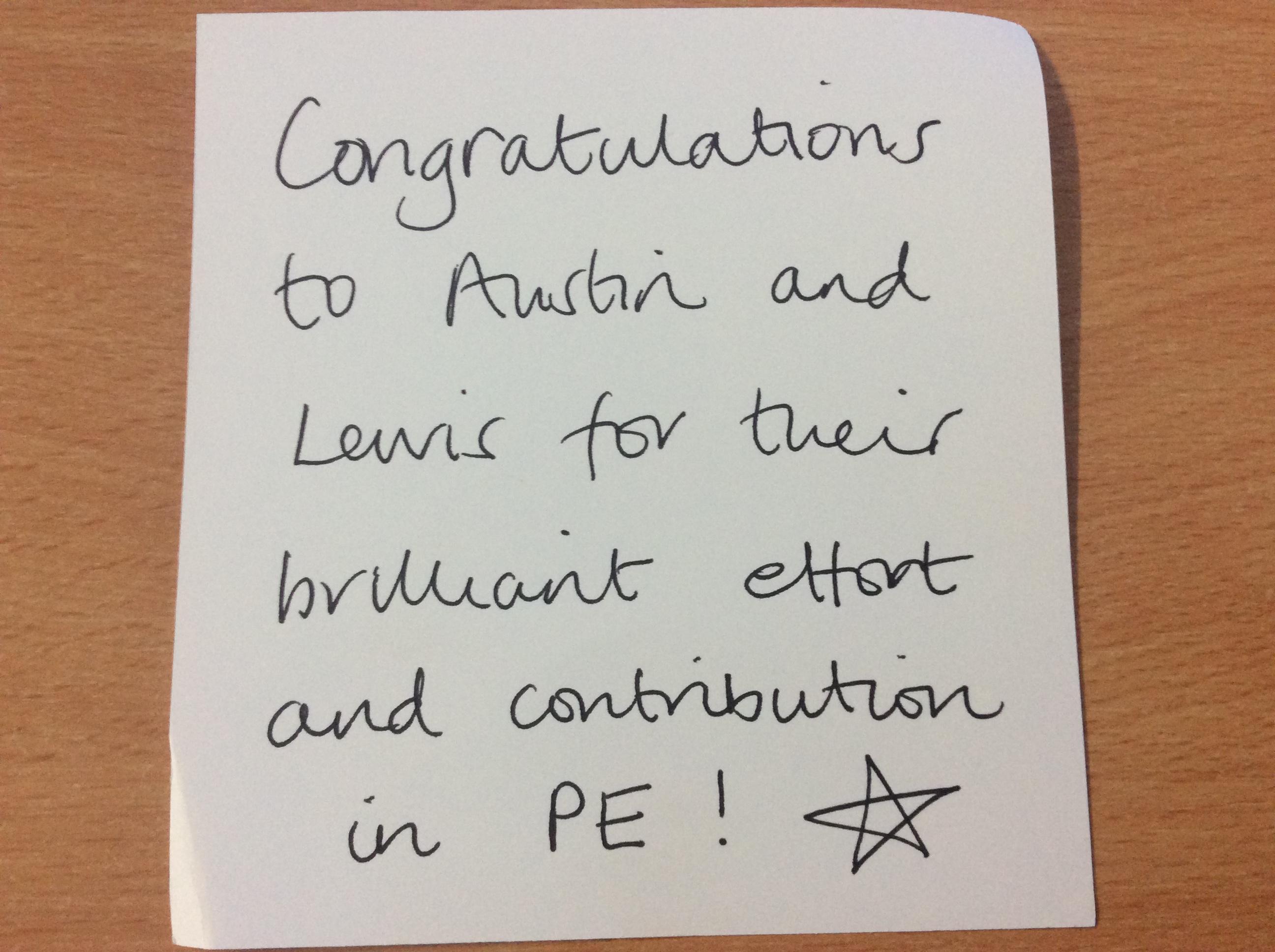 Austin and Lewis's brilliant attitudes!.