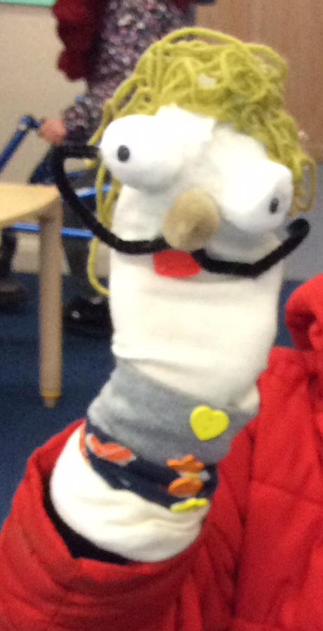 Ayan's wonderful sock puppet!