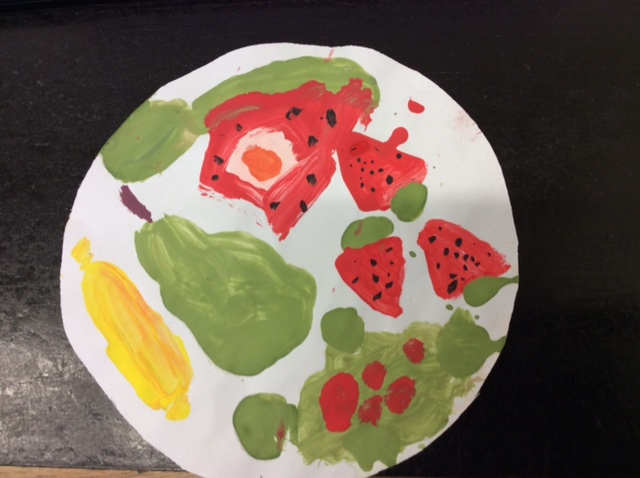 Alanah's wonderful healthy food plate!