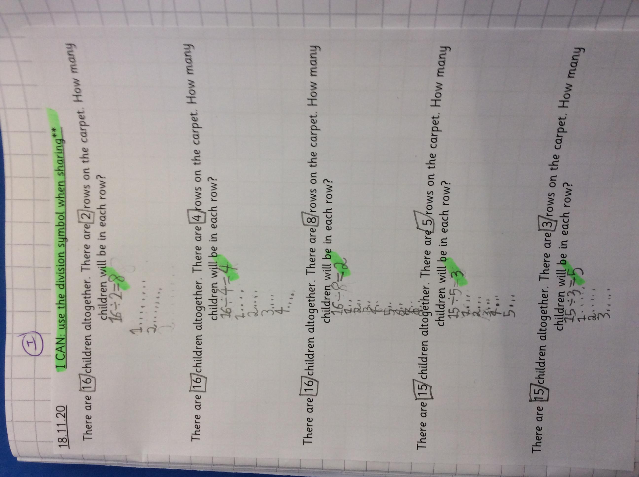 Victoria's fabulous maths!