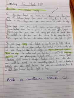 Krisha's fantastic writing!